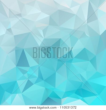 Vector Polygon Background With Irregular Tessellations Pattern - Triangular Design In Ice Colors