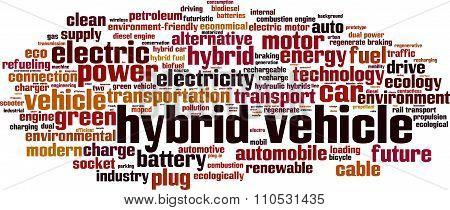 Hybrid Vehicle Word Cloud