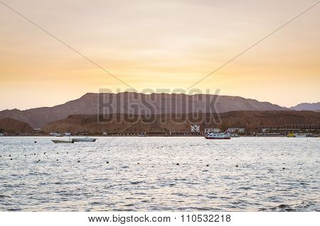 February Evening On The Beach In Sharm El Sheikh