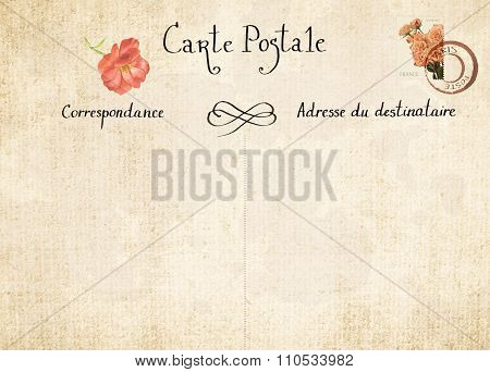 Vintage post card design template