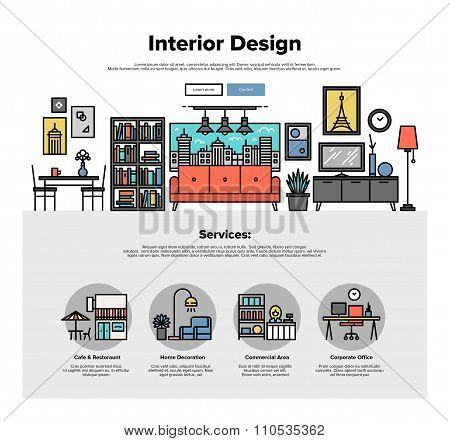 Interior Design Flat Line Web Graphics