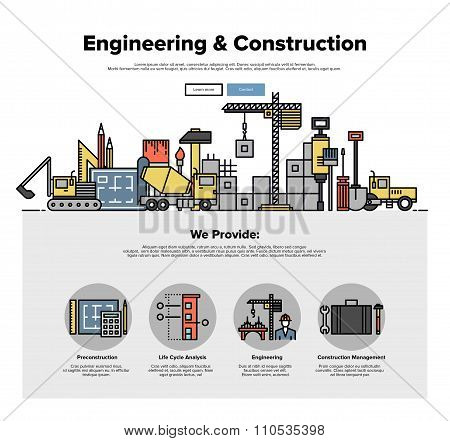 Real Estate Construction Flat Line Web Graphics