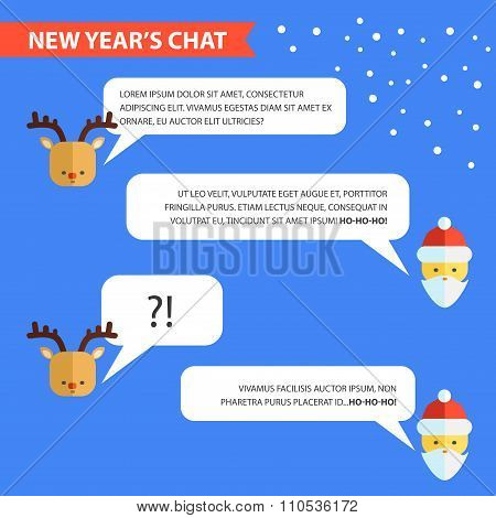 New Years Chat Template