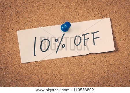 10 Ten Percent Off