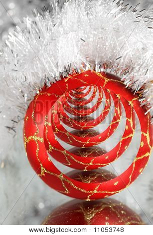 Red New Year's ball