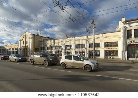 VLADIMIR, RUSSIA -05.11.2015. Shopping Arcade in the Bolshaya Moskovskaya Street - Historic downtown