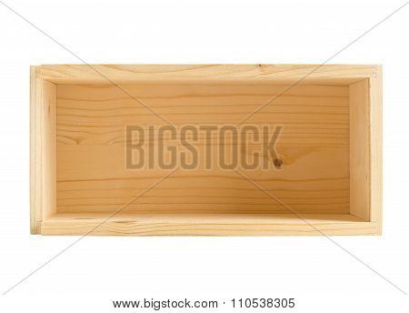 Little Empty Wood Box Isolated