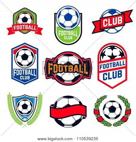 Football Emblems Set.