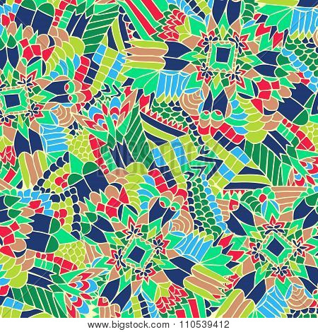 Zentangle Background Unuasual Colorful 4