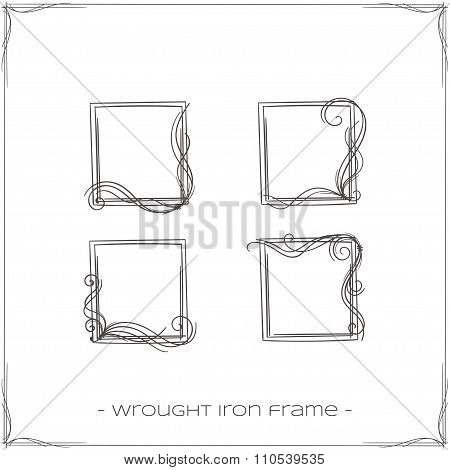 Wrought Iron Frame Five