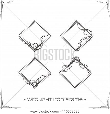 Wrought Iron Frame Four
