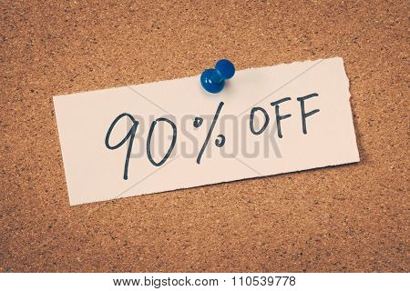 90 Ninety Percent Off