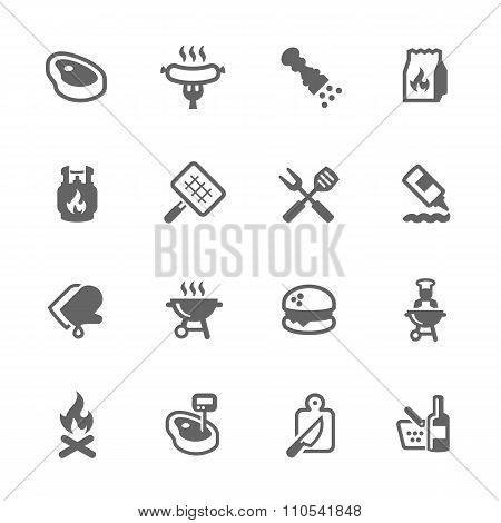 Simple Barbecue Icons