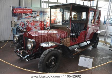 MOSCOW, RUSSIA - NOVEMBER 9, 2013: Modern Restoration Of A Car Russo-balt