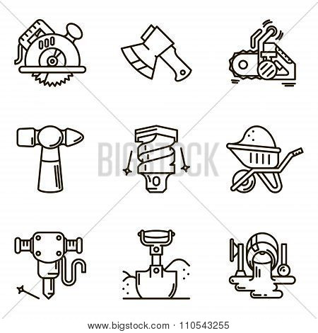 Vector set icon construction tool