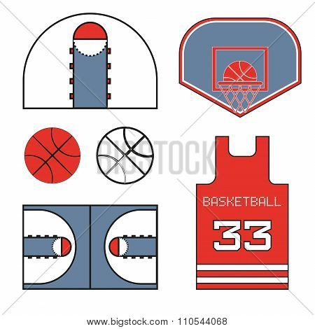 Red Basketball Objects