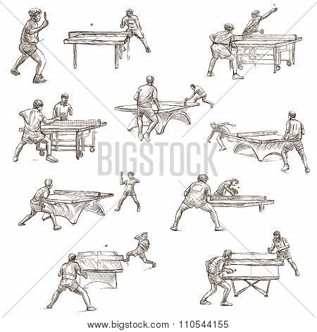 Table Tennis - Feehand Sketching, Collection