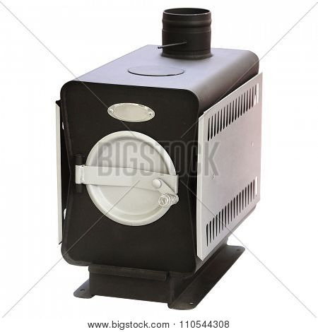 Heating furnace under the white background