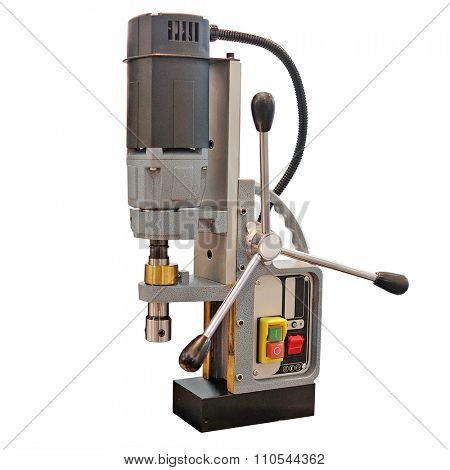 drilling machine isolated under the white background