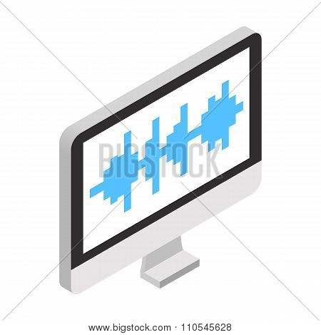 Sound wave in monitor