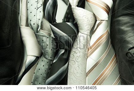 Set Of Colorful Men's Ties
