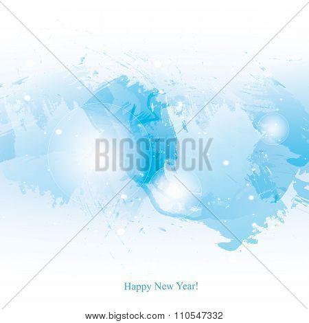 Watercolor-new-year-blue-brush