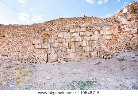Bricks Of Different Times In The Masonry Of The Old Defensive Structure Of The Old Town, With Destro