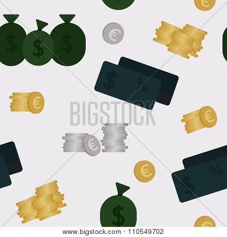 Business and finance seamless pattern. Background for business.