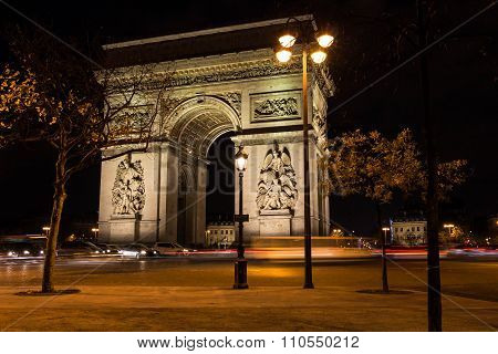 The Triumphal Arch At Night.