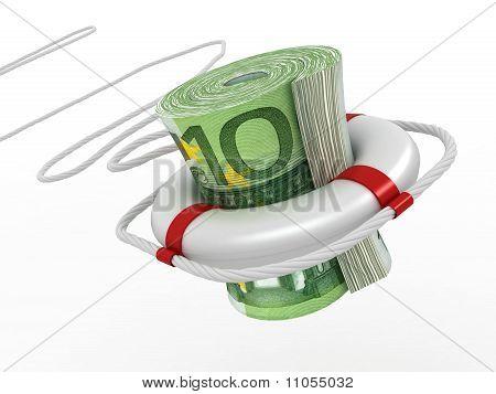 Lifebouy With Euro
