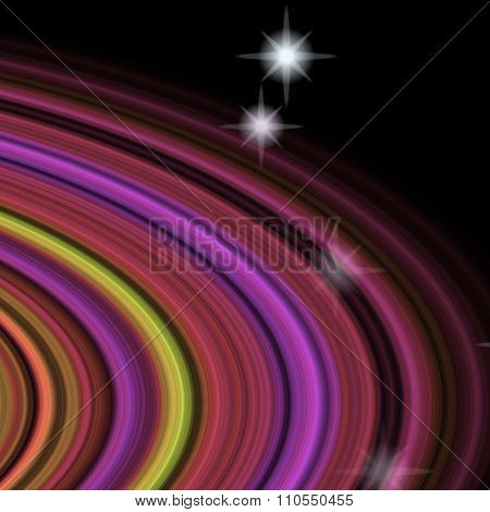 Detail Of Planetary Rings Of Fantasy Planet In Space