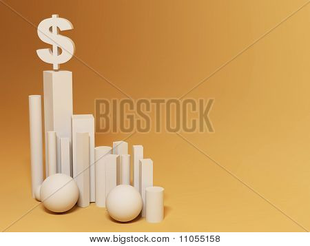 Hegemony Of The Dollar. Abstract Background