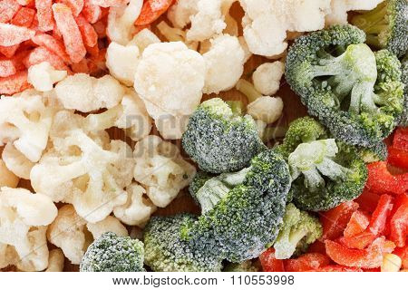 Mixed Frozen Vegetables Background
