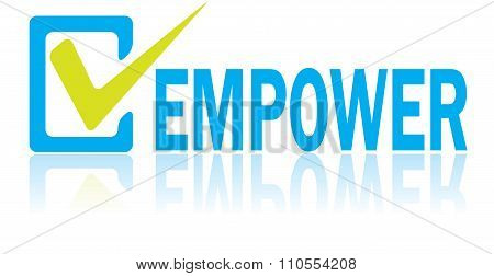 Business Concept, Vector Of Empower Text