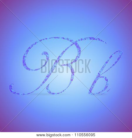 Letters B With Polygonal Pattern
