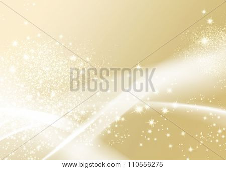 Gold sparkle background - abstract soft texture with wavy lines
