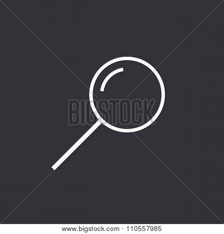 Search icon, modern minimal flat design style. Magnifying glass thin line symbol, vector illustratio