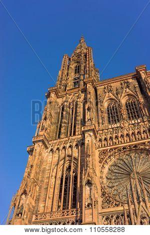 Cathedrale Notre Dame de Strasbourg in Alsace, France