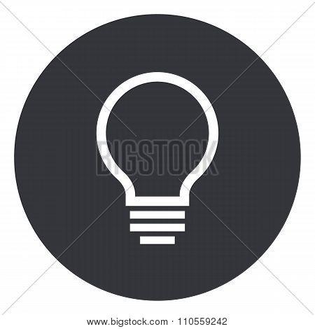 Light bulb outline icon, modern minimal flat design style, lightbulb vector illustration