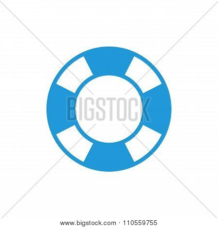 Lifebuoy icon, modern minimal flat design style. Vector illustration, lifebelt symbol