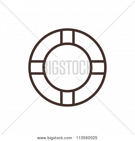 Lifebuoy outline icon, modern minimal flat design style. Vector illustration, lifebelt line symbol