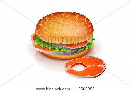 fish and burger