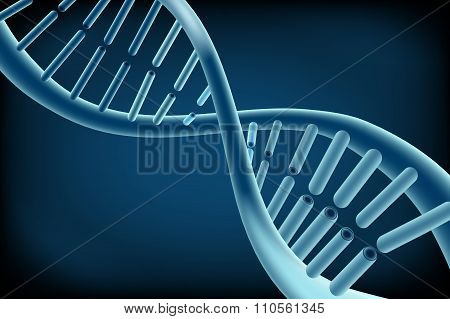 Concept Dna on blue background