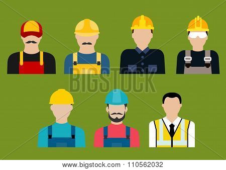 Construction and service professions avatars