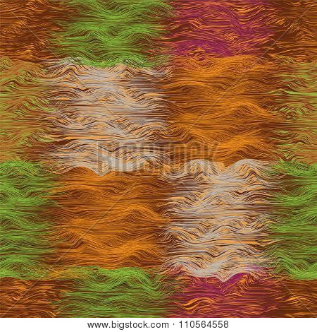 Seamless grunge striped and wavy quilt seamless pattern