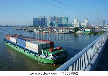 Cargo ship, shipping , logistics, service, ho chi minh city, transport