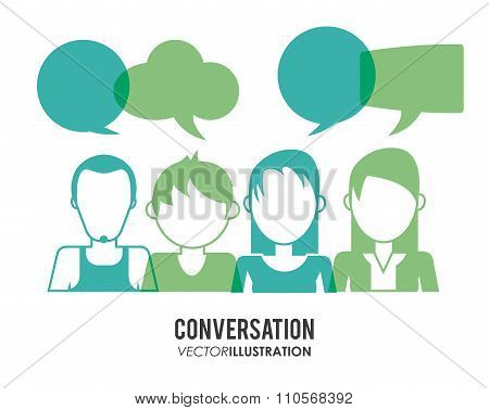 Conversation icons design