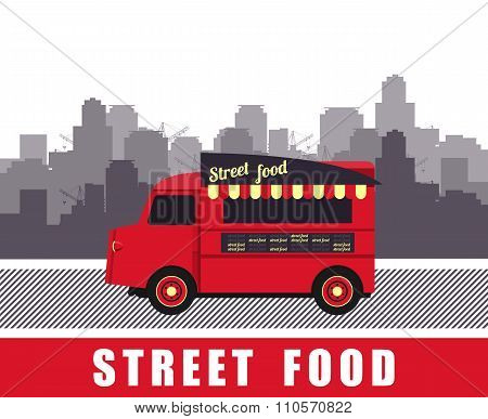 Bus With Street Food