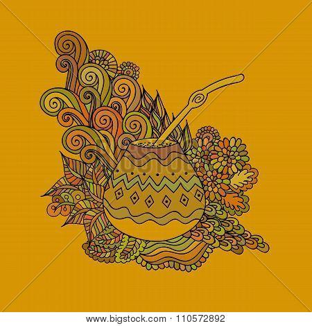 Yerba Mate Tea Gourd