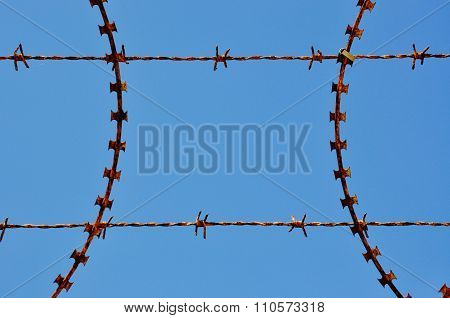Abstract Metal: Barbed and Razor Wire